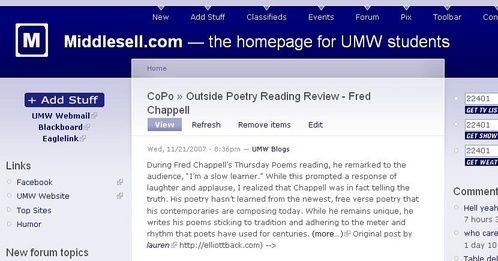 Image of UMw Blogs post on Middlesell.com