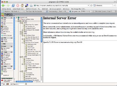 Typo3 Internal Error