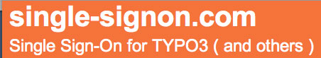 Single Sign On Typo3
