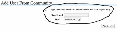 Add User Community