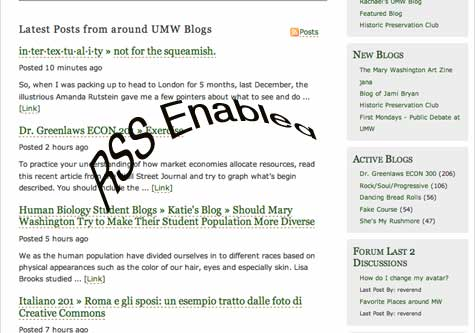 UMW Blogs RSS