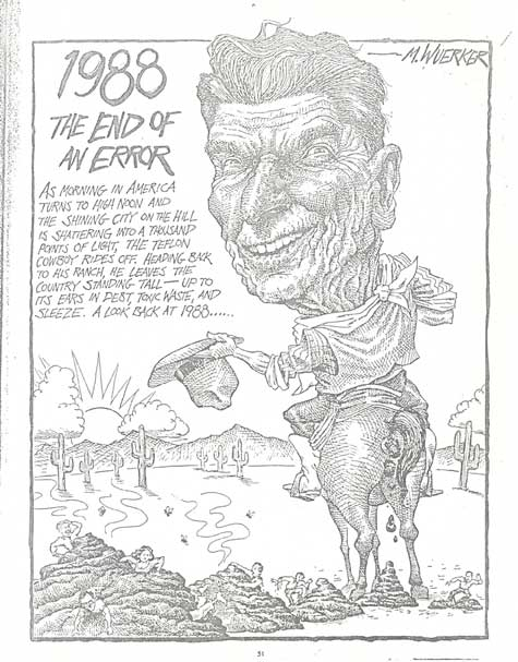 Image of Reagan in the strip 1988 End of an Error