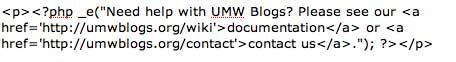Image Need Help UMW Code