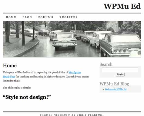 Image of WPMuEd Site