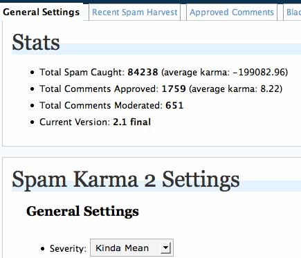 Spam Karma Stats