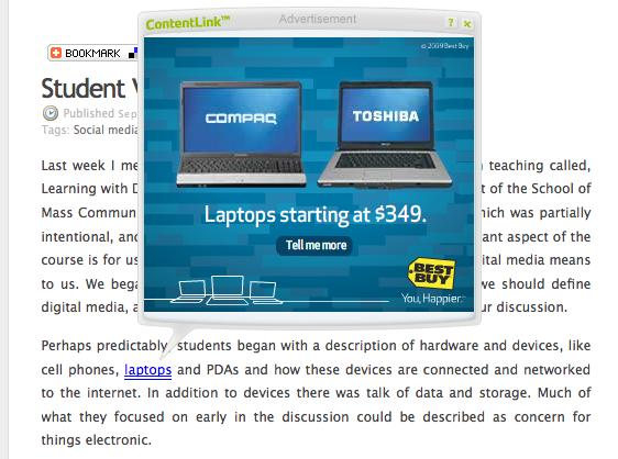 edublogs ads