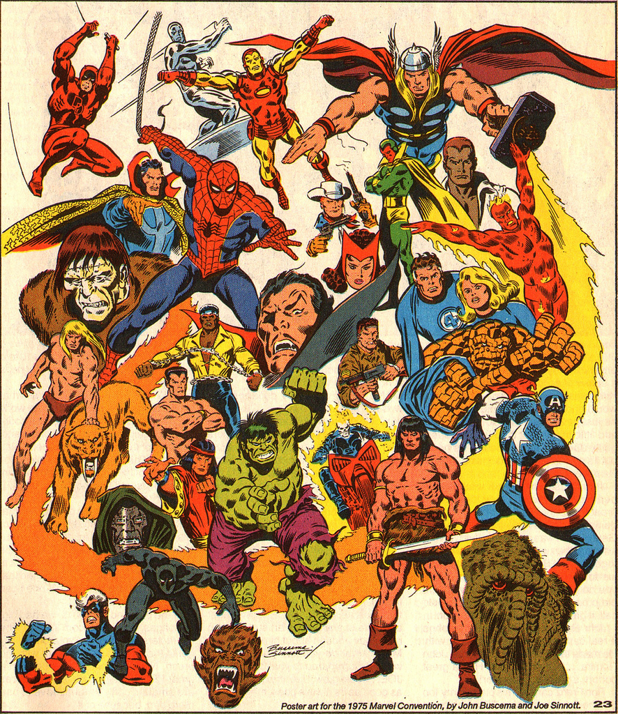 Image of Marvel Poster from the 1970s