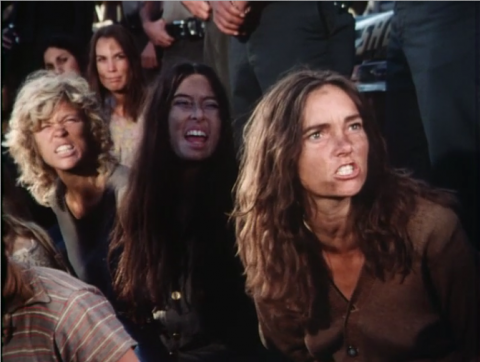 A series of dirty hippies making ugly faces