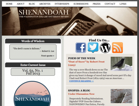 Shenandoah Literary Review
