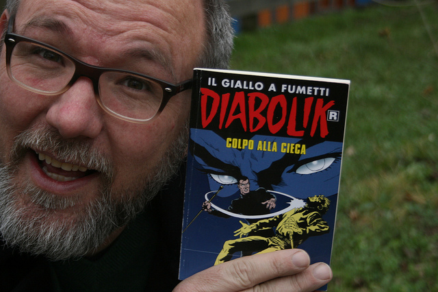 Image of Diabolik booklet with Jim Groom.