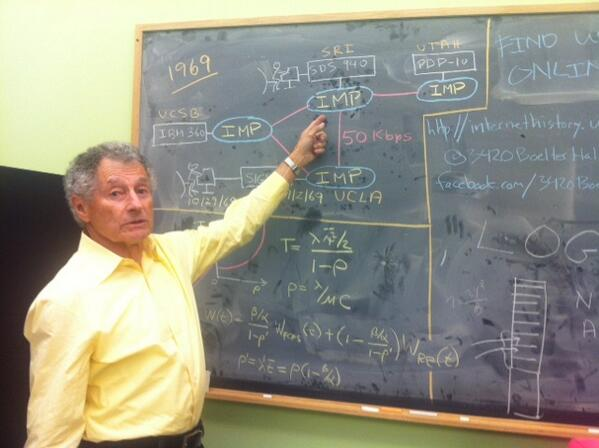 Kleinrock explaining IMPs and ARPANET