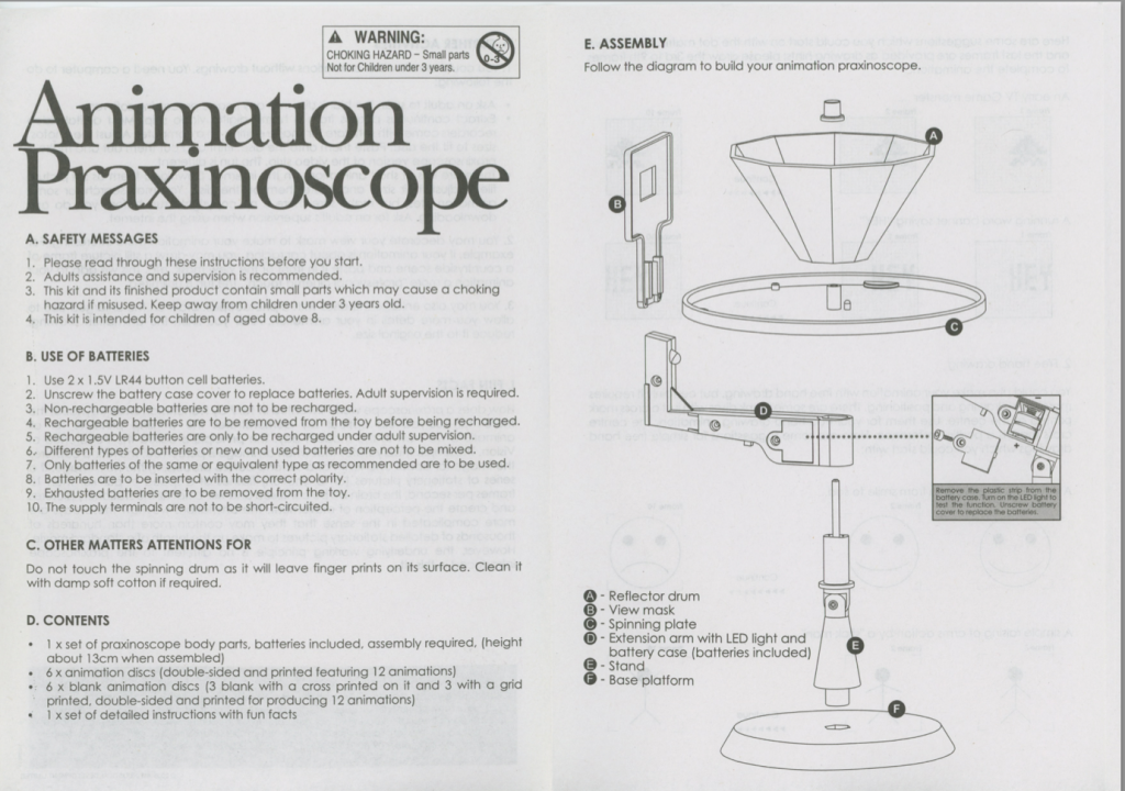 Animated Praxinoscope Manual