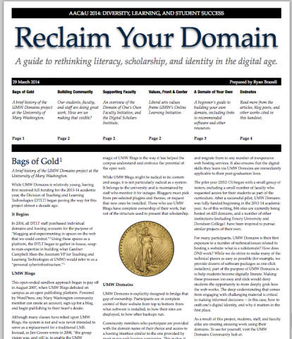 Reclaim Your Domain