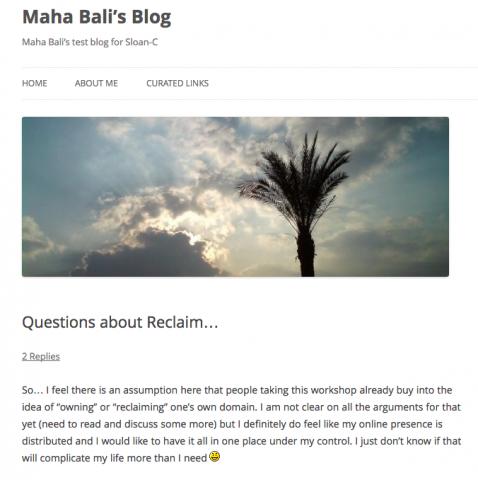 Maha Bali Blog