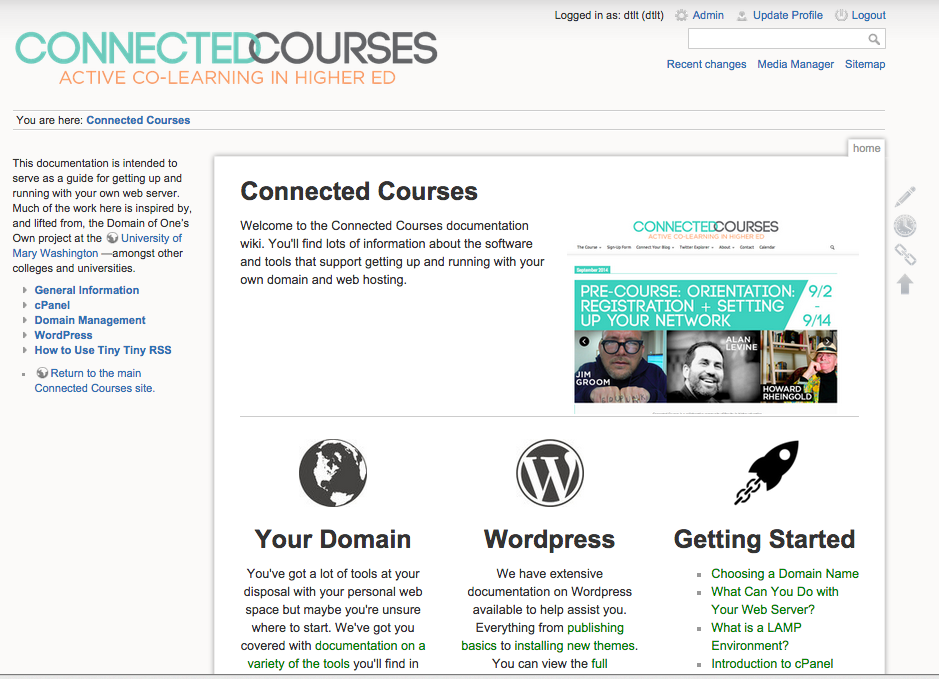 Connected Courses CPanel
