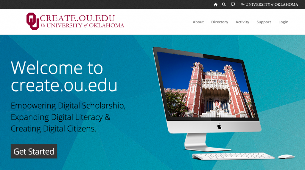 "The University of Oklahoma's Domain project ""OU Create"""