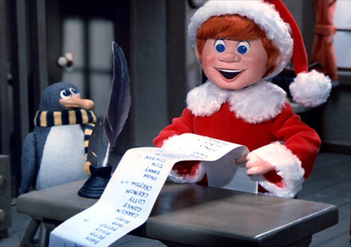 "santa.88--SANTA CLAUS IS COMIN' TO TOWN-- Fred Astaire narrates this tale of Kris Kringle (voiced by Mickey Rooney), a young boy with an immense desire to do good things for others, and eventually earns the name of Saint Claus, or Santa Claus.  ABC Family presents this timeless animated special as part of it's annual ""25 Days of Christmas"" programming event.  ( WARNER BROS)"