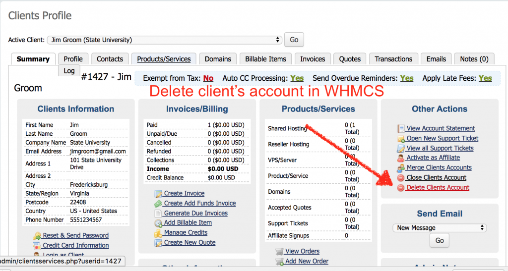 Cancel, Delete, Terminate: Removing Accounts in WHMCS | bavatuesdays