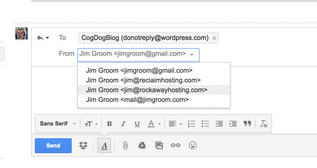 how to use mailgun with gmail