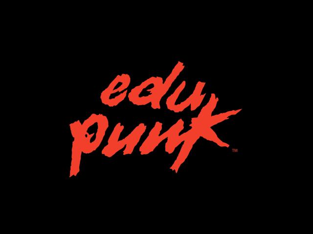 Image of DaftPunk style EDUPUNK label.