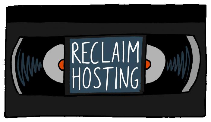 Videocassette version of Reclam Hosting logo