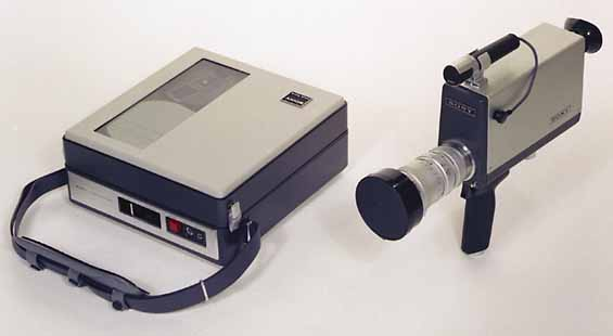 "Image of Sony's portable video unit ""Portapak"" from 1967"