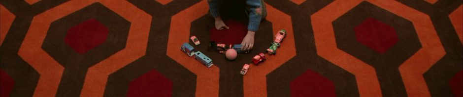 The Shining carpet with Danny playing with cars