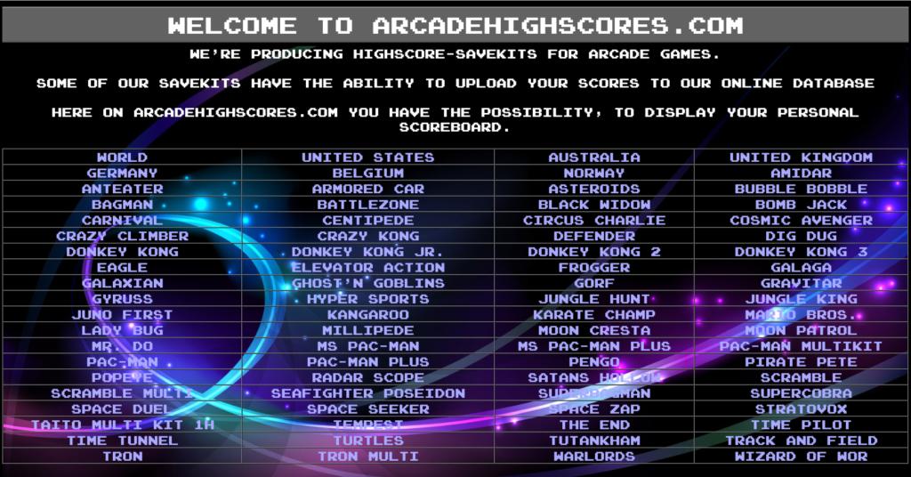 Arcadehighscores