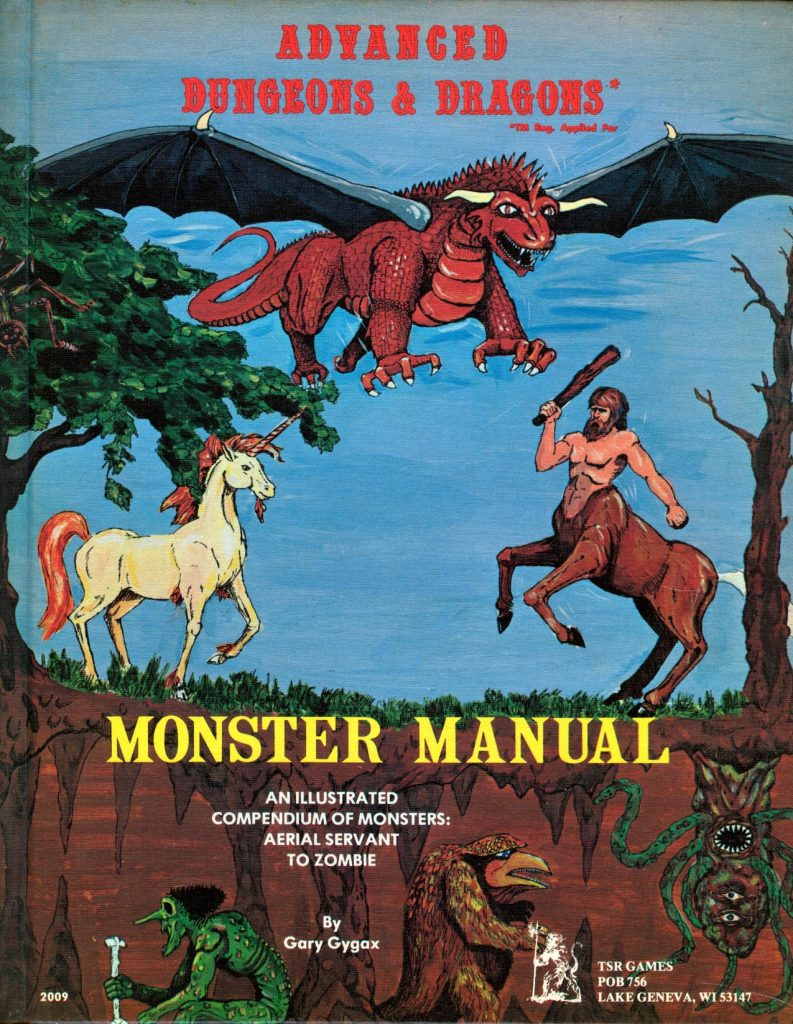 Dungeons and Dragons 1980 Monster Manual