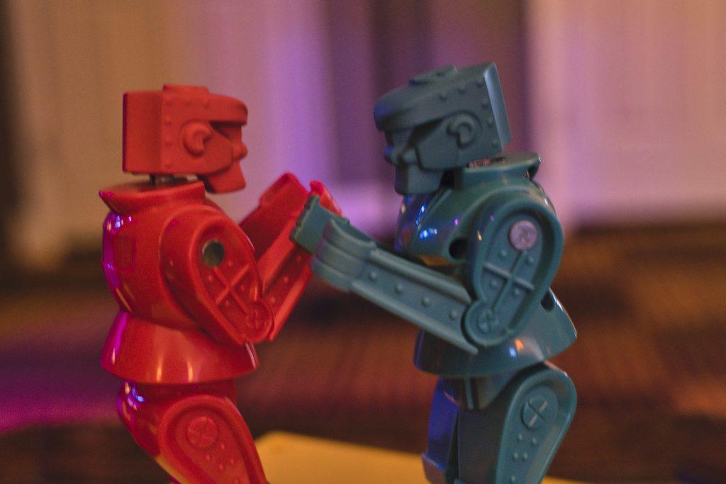 Detail of Rockem Sockem Robots