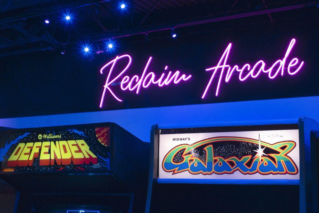 Image of Reclaim Arcade neon sign