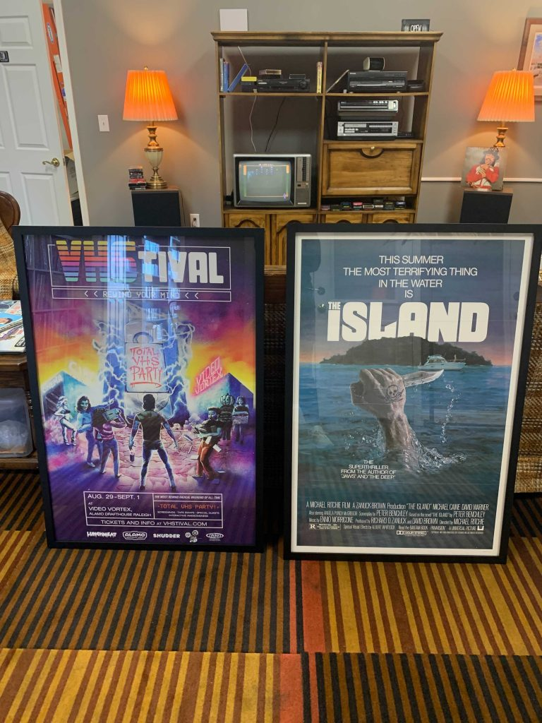 VHStival and The Island movie posters