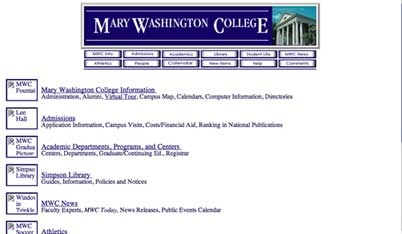 Image of MWC Website from 1997